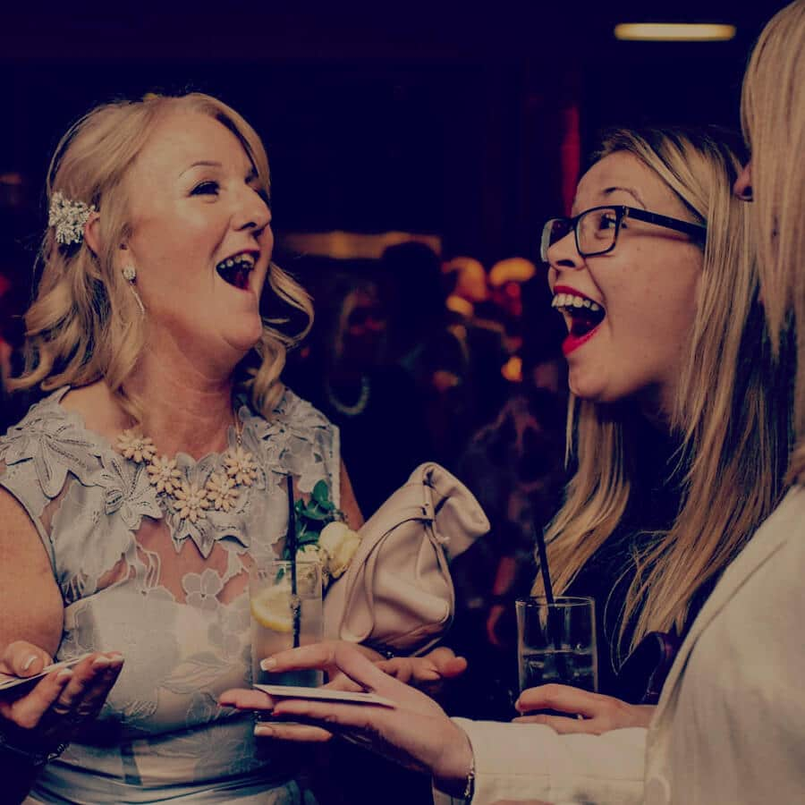 ladies react to amazing magic trick by event magician sam fitton