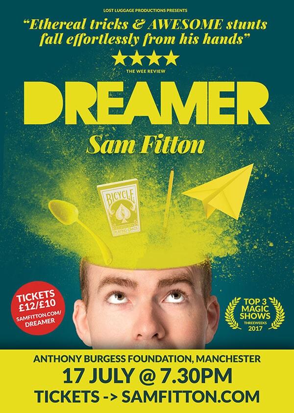 sam fitton performs at Edinburgh fringe magic show in Edinburgh