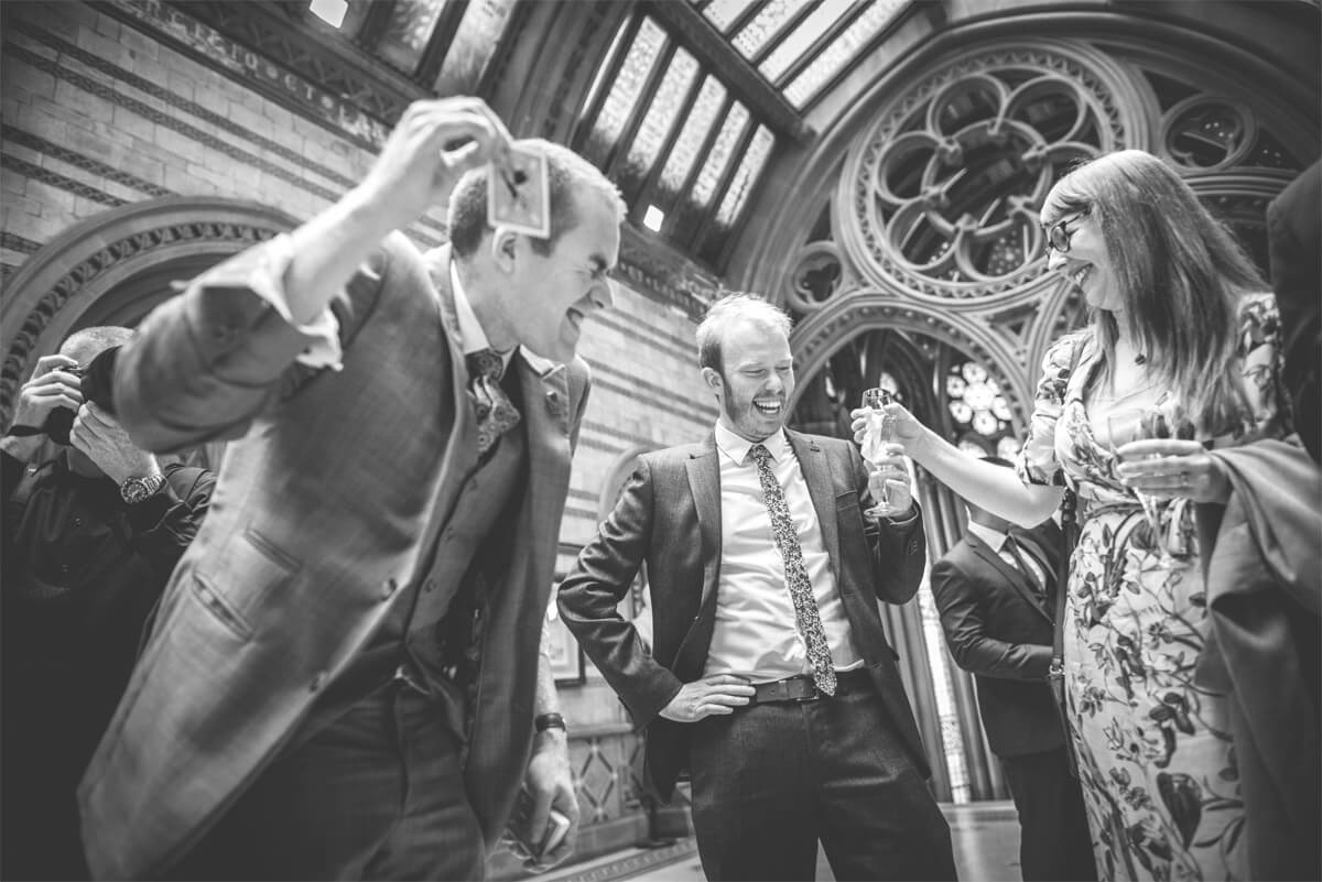 manchester magician sam fitton performs in manchester town hall