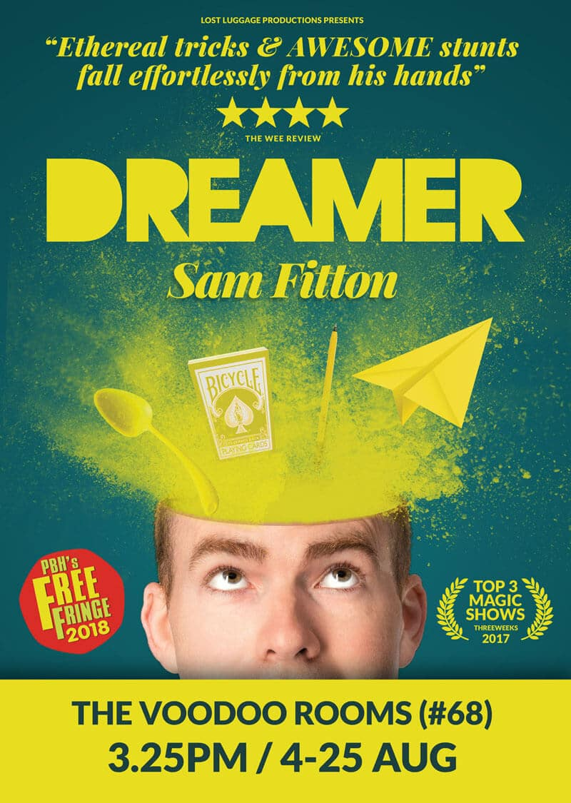 sam fitton performs at Edinburgh fringe magic show in Edinburgh
