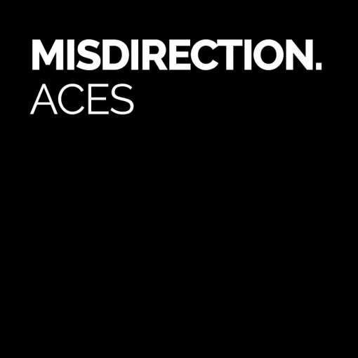 misdirection aces logo by sam fitton
